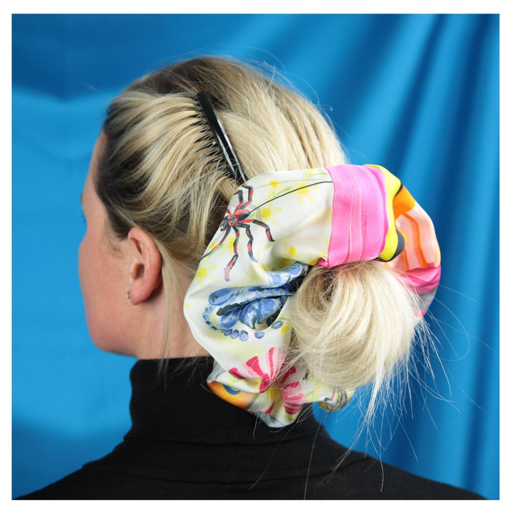 Chintzy Silk Super Scrunchie - Walmsley & Cole