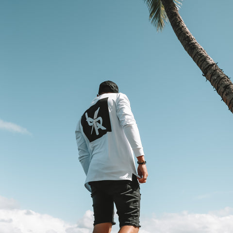 The 'MODE' long sleeve tee, White