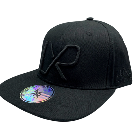 Flat peak snapback - Black embroidery