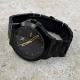RARE Watch, Black & Gold