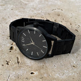TITAN Watch, Black & Silver