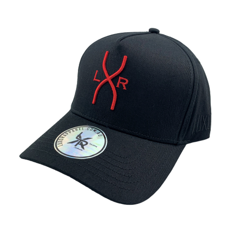 SPYDER A-frame cap, Black & Red