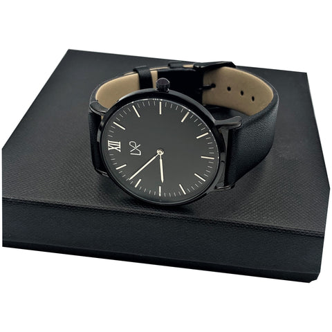 LXR Leather Watch