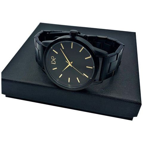 TITAN Watch, Black & Gold