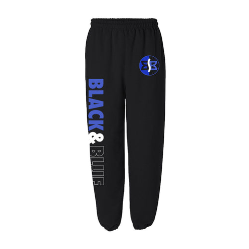 Black & Blue Sweatpants