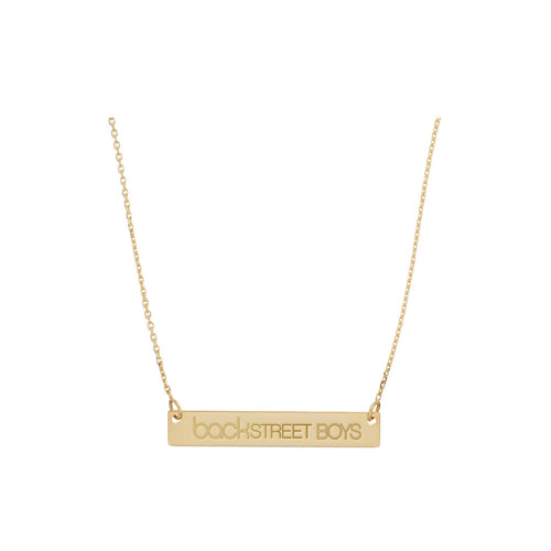 Backstreet Boys Gold Bar Necklace