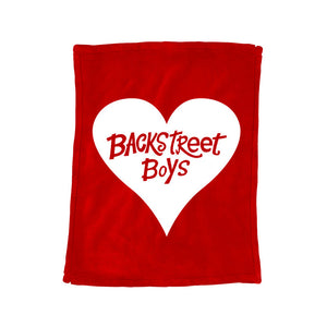 BSB Logo Heart Fleece Blanket
