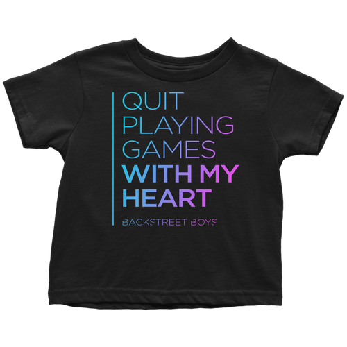 Quit Playing Games Toddler Tee