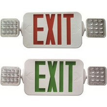 Exit Combo - Red/White - Square - M/LED
