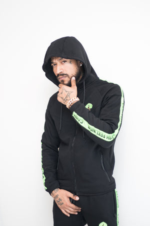 Black and Neon Green (Glacier) Tracksuit
