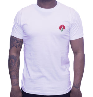 Logo Tee White/Red Heart