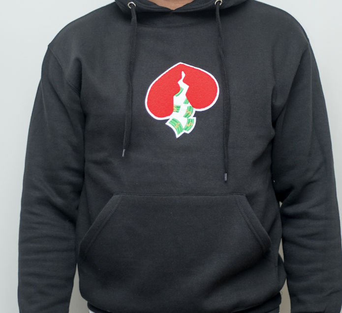 Got Heart Hoodie(Black/Red Heart)