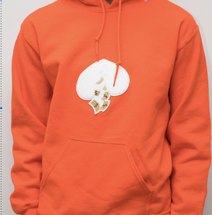 Got Heart Hoodie(Orange/White Heart)