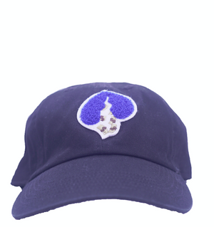 Black Logo Hat (Blue Heart)