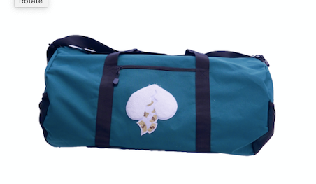 Got Heart Duffle Bag(Green/White)