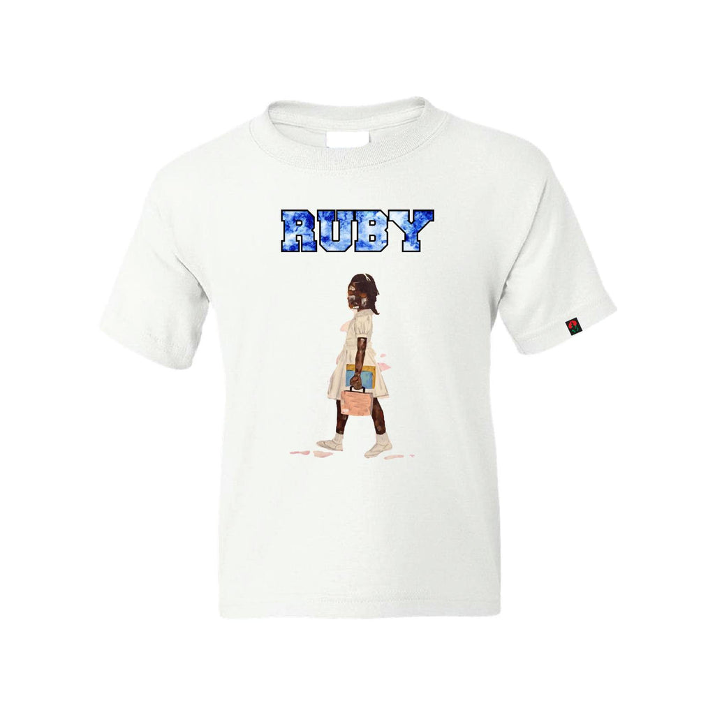 RUBY KIDS TEE(WHITE/BLACK)