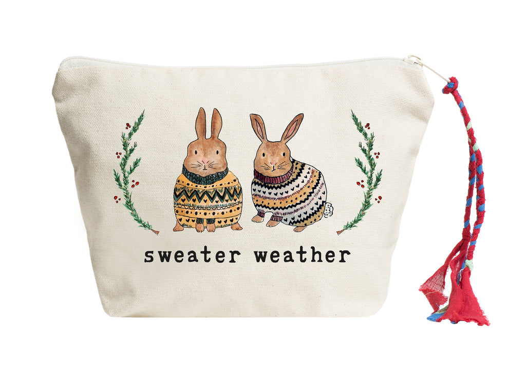 Sweater Weather (Bunny Edition) | Pouch