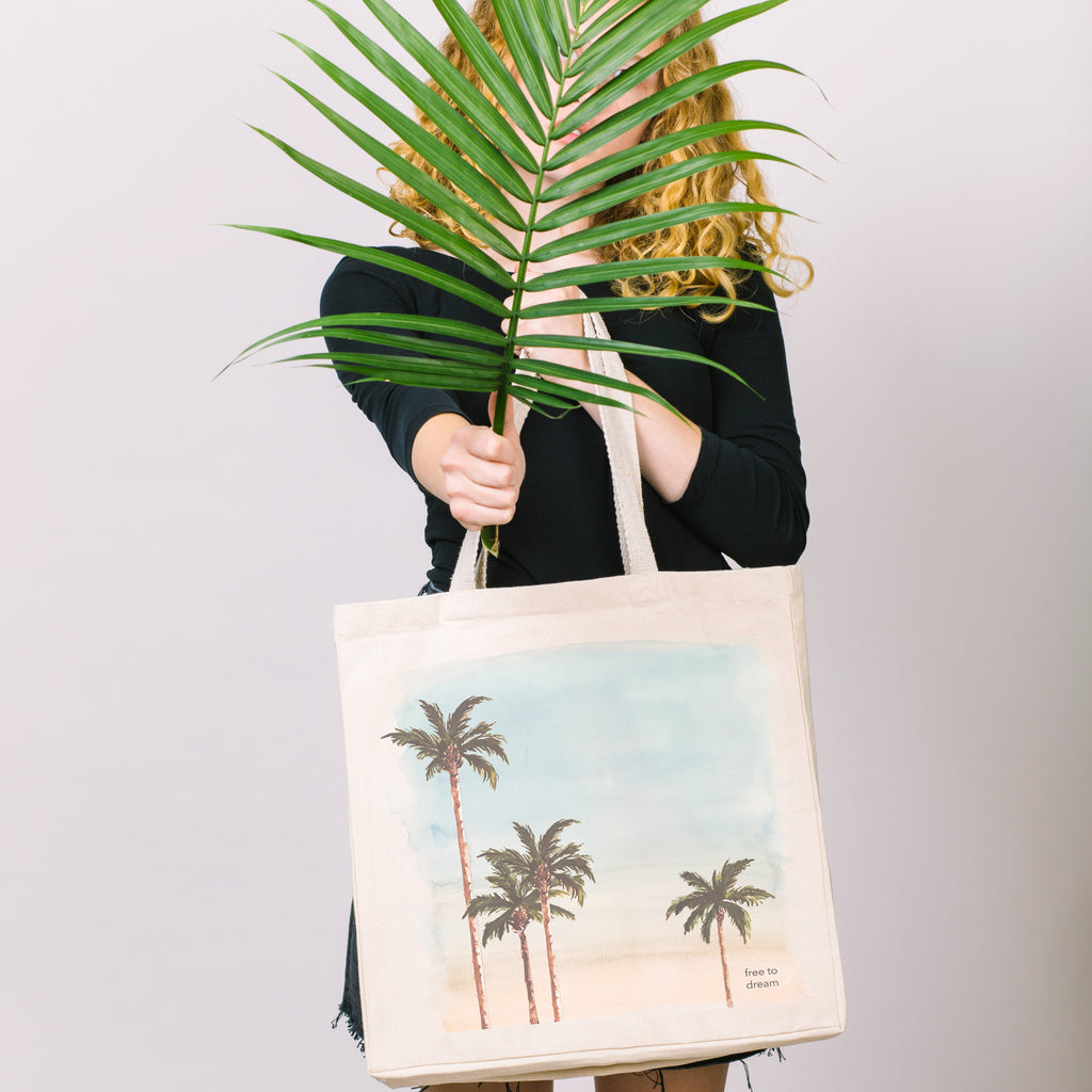 Free to Dream (Palm Trees) | Tote