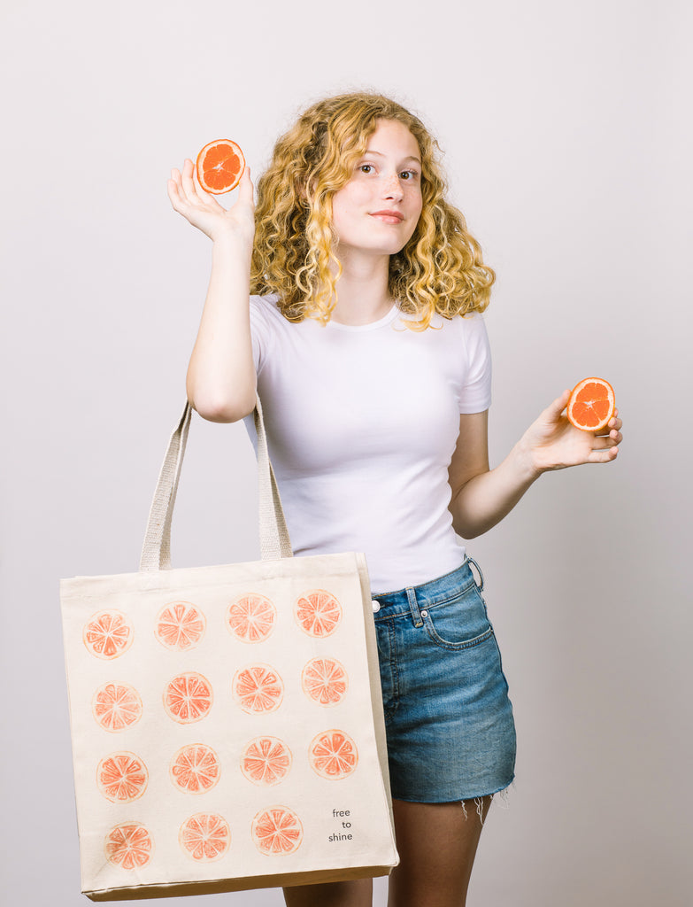 Free to Shine | Tote (Grapefruit)