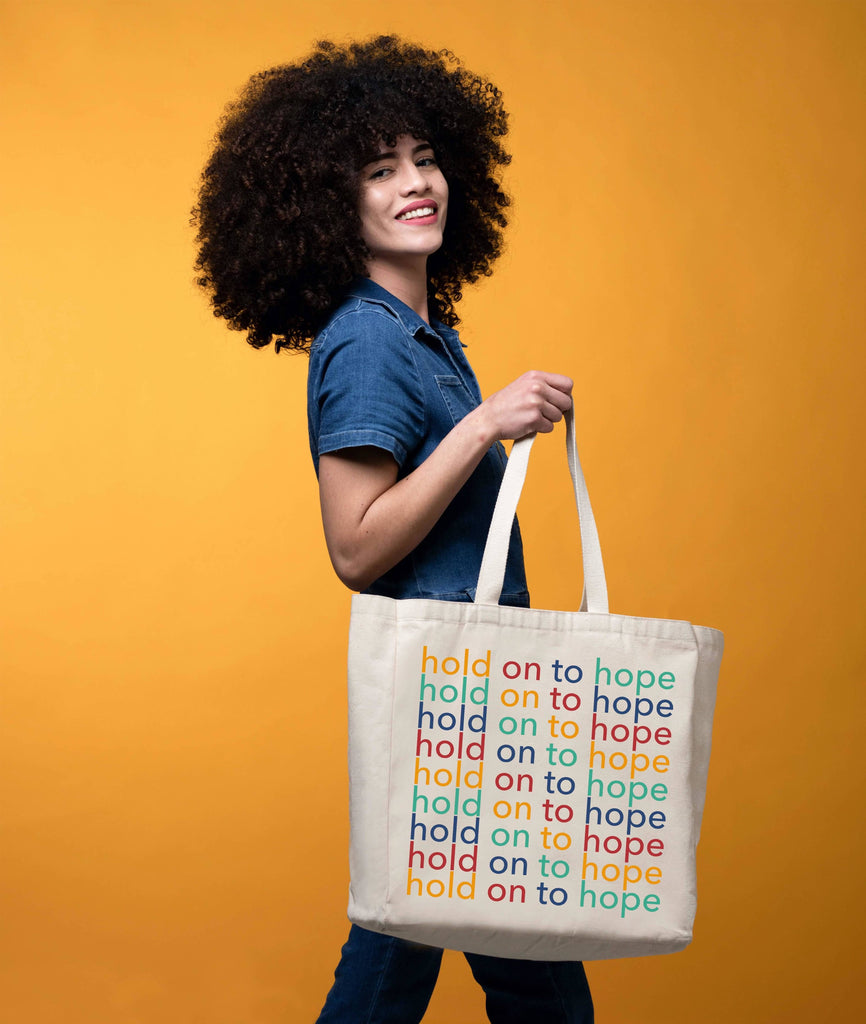 Hold On To Hope tote by The Tote Project