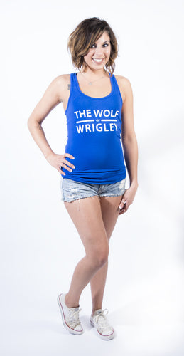 The Wolf of Wrigley Women's Blue Tank