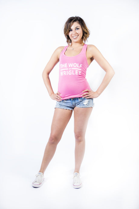 The Wolf of Wrigley Women's Pink Tank
