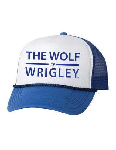 The Wolf of Wrigley Blue Hat