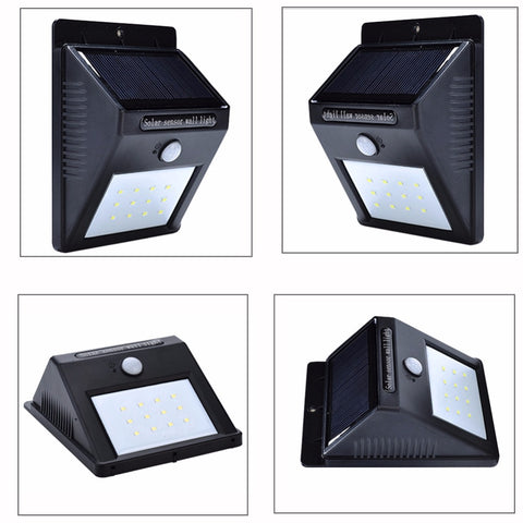 8 12 20 38 led solar powered motion sensor outdoor waterproof energy