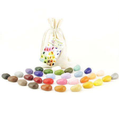 crayon rocks set of 32 {cotton bag}