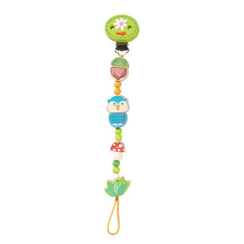 forest friends pacifier/toy chain {green}