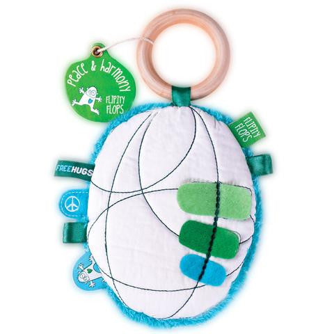 flipity flop peace teether