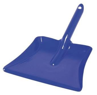 metal dust pan {blue}