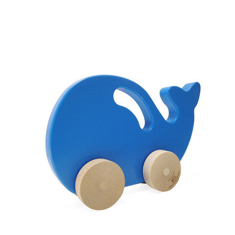 large whale push toy
