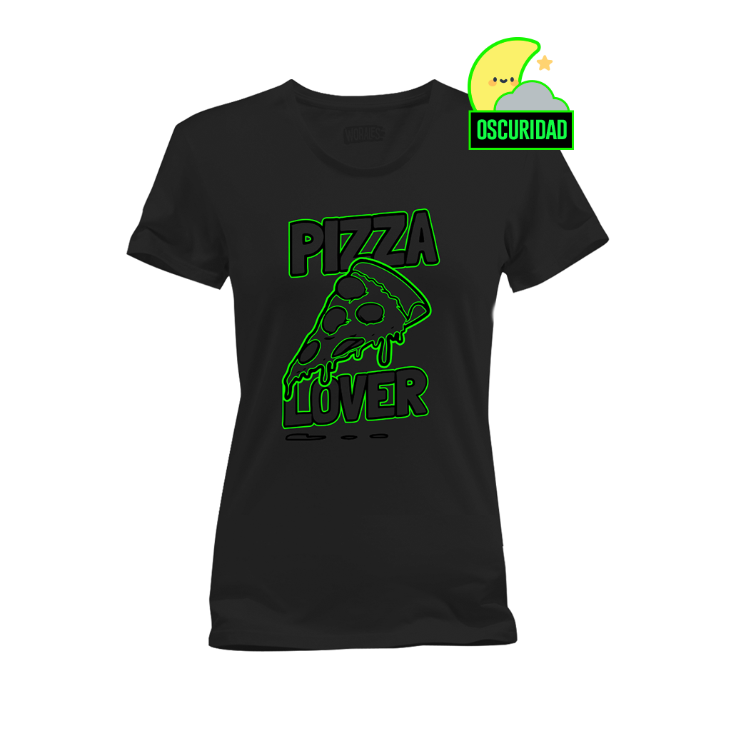 Playera que cambia de color Pizza - Mujer