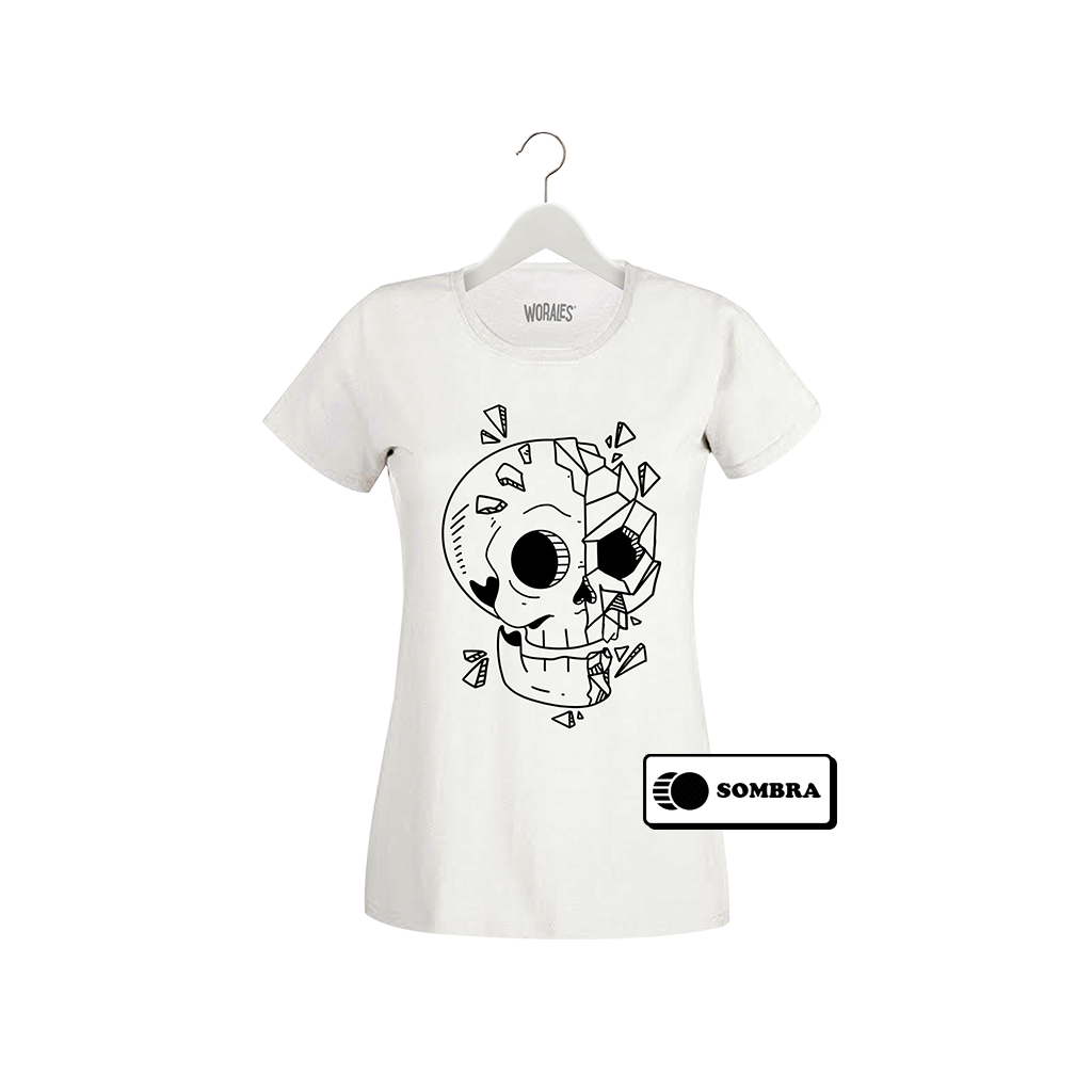 Playera que cambia de color Skull Cartoon - Mujer