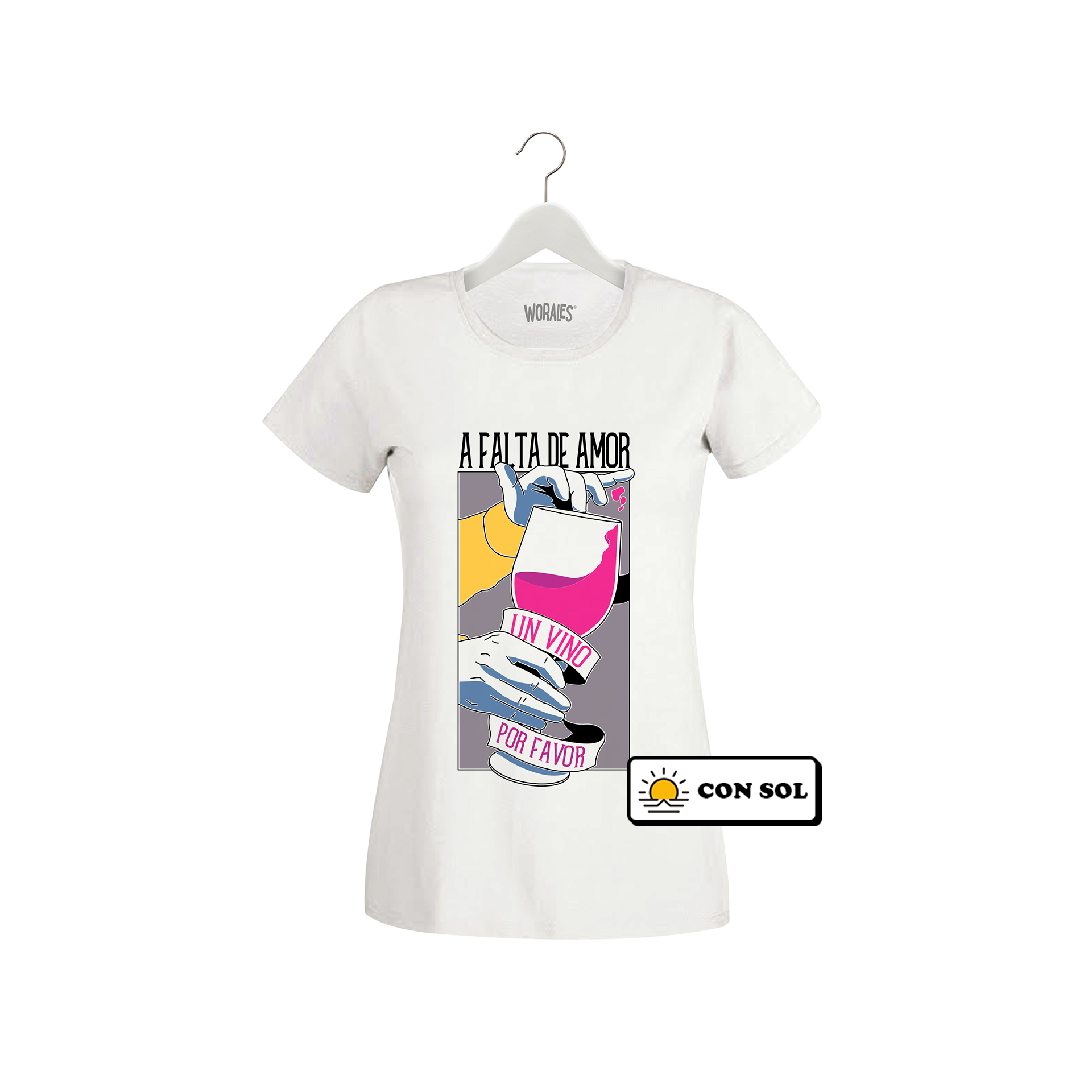 Playera que cambia de color Wine Love - Mujer