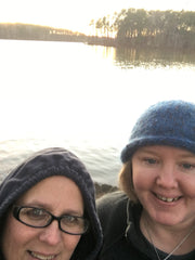 Hanging out with my friend Jennifer! The lake was beautiful!