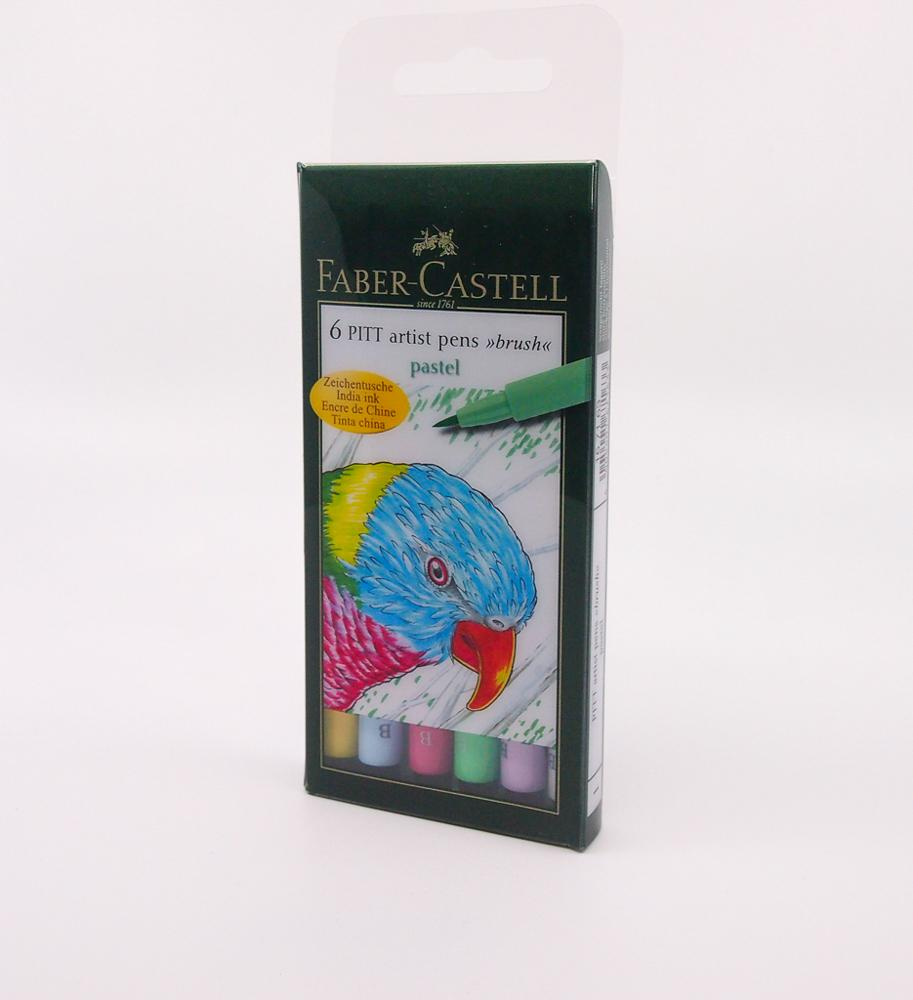 Faber Castell brush pens Pitt, colores pastel, Brush pens - Lapicity