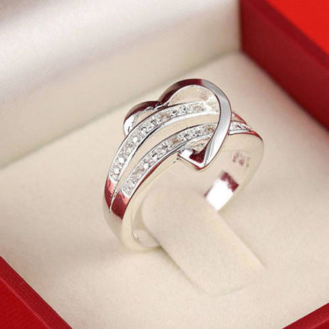 Silver Plated Heart Ring