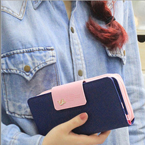 Classic Cute Clutch Button Wallet