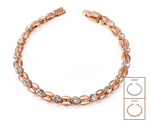 Rose Gold/Platinum Wheat Shaped Bracelet