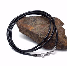 Black Leather Cord Necklace | www.opertime.com - Opertime