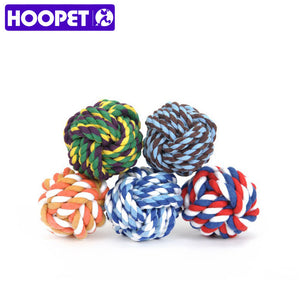 Hoopet New Pets Rope Ball Toys Bite Ball Colorful Dog Interactive Toys Teeth Clean Wool Ball 9 Size Pet Puppy Chew Toys - Opertime