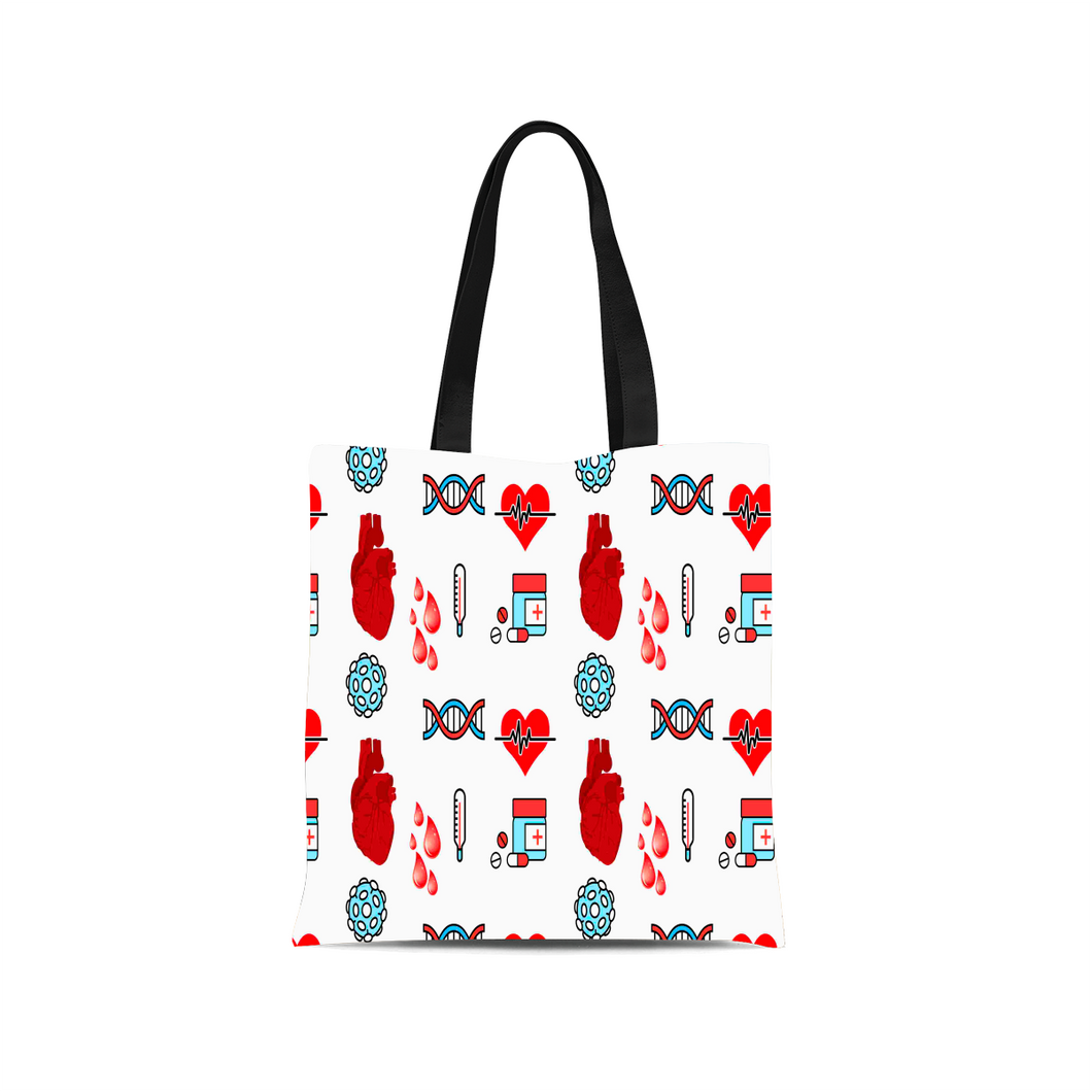 One-of-a-Kind Nurse Themed Canvas Tote Bag - Opertime