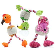 Amazing Bird Shape Plush Dog Toy - Orange, Green, Pink - Opertime