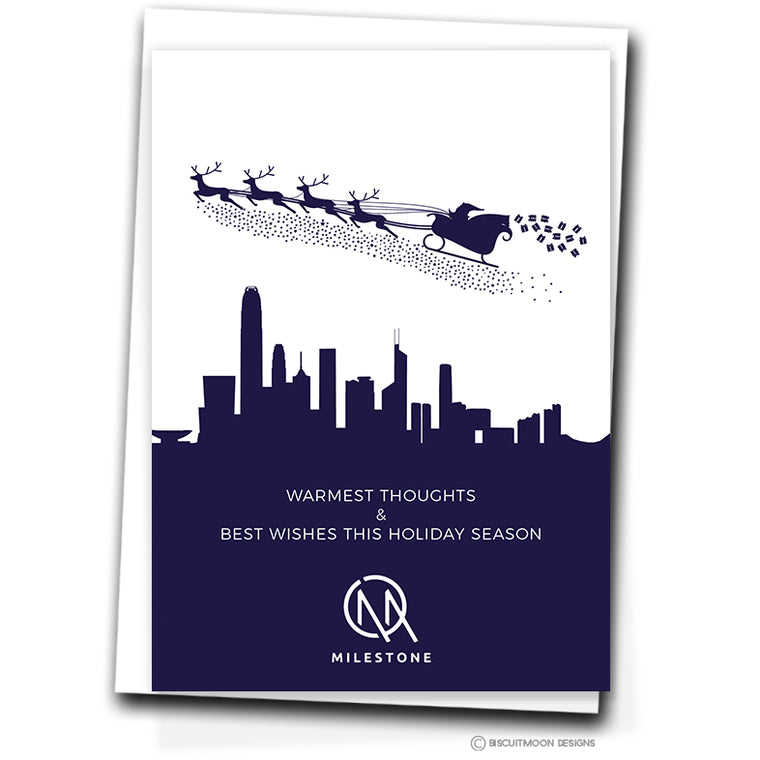 Corporate Christmas Cards Biscuitmoon Designs