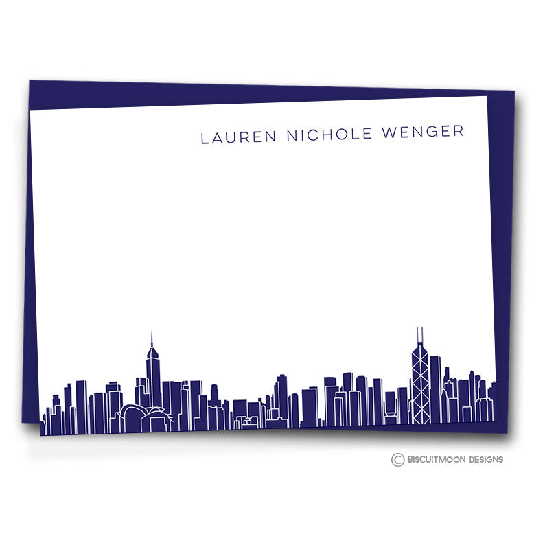 Borderless hong kong skyline correspondence cards biscuitmoon designs borderless hong kong skyline correspondence cards altavistaventures