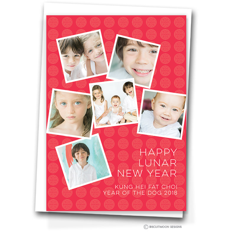 scattered squares chinese new year cards