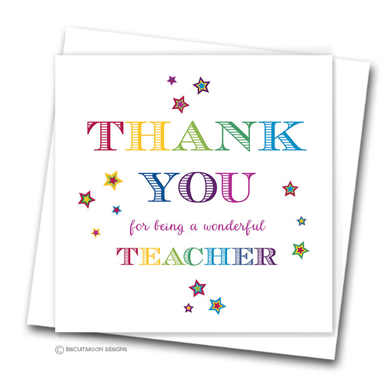 how to make a thank you card for my teacher