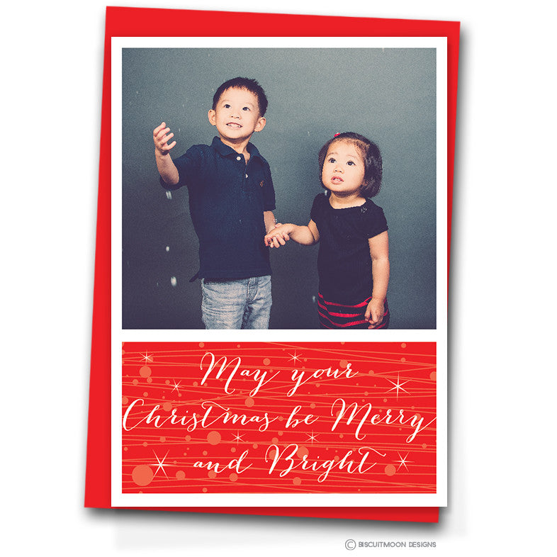 May Your Christmas Be Merry & Bright Personalised Christmas Cards ...